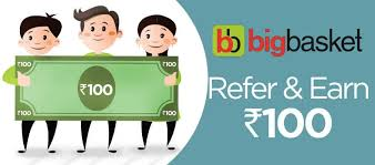 Big Basket referral code - Get 100rs Credit for every friends referred